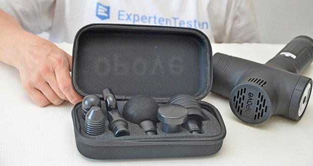 Opove M3 Pro Massagepistole im Test - 6 ergonomisch gestaltete Silikonmassageköpfe