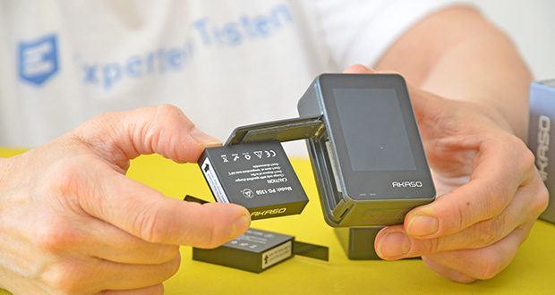 AKASO Brave 7 Action Cam im Test - verpackte 2x 1350-mAh-Batterien verlängern Ihre Aufnahmezeit erheblich und verringern die Sorgen um das Aufladen, wenn Sie sich draußen befinden