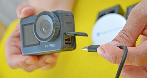 AKASO Brave 7 Action Cam im Test - Anschlüsse: Micro HDMI, Micro USB