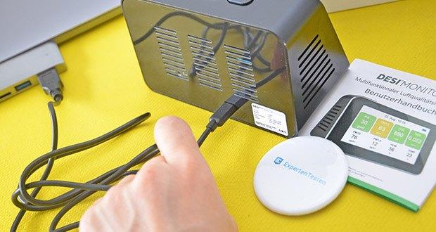 DESI-System DESI Monitor Luftquailitätsmonitor im Test - einfach und schnell zu bedienen
