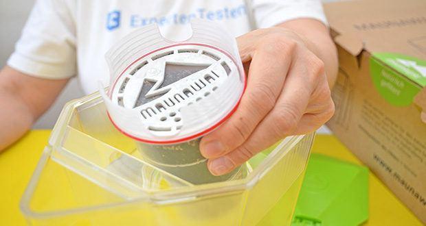 MAUNAWAI NEU Kanne Kini Tischwasserfilter im Test - PI-Filterkartusche filtert in 3 Schichten das Leitungswasser: 1. Entfernt Schwermetalle, Chlor und grobe Sedimente; 2. Absorbiert Pestizide, Herbizide, Fluoride und weitere chemische Stoffe; 3. Hochentwickelte Filtermaterialien aus Pi-Keramiken geben Mineralien und Spurenelemente ab. (z.B. Magnesium, Calcium, Turmalin, EM Keramik)