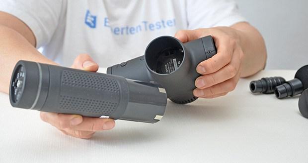 Opove M3 Pro Massagepistole im Test - verfügt über eine 2600 mAh Lithiumbatterie mit großer Kapazität und langer Batterielebensdauer
