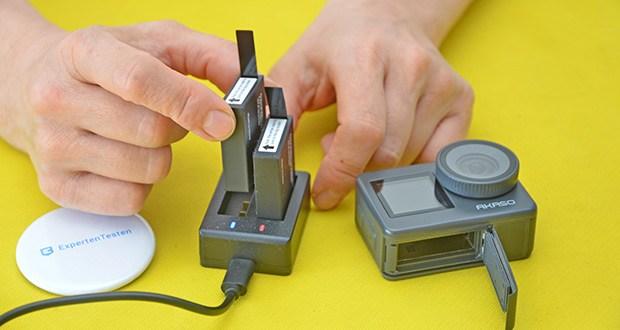 AKASO Brave 7 Action Cam im Test - mit 2x 1350mAh Akkus und mit dem Ladegerät