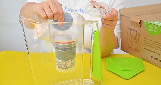 MAUNAWAI NEU Kanne Kini Tischwasserfilter im Test - Wechselintervall: PI-Filterkartusche - 3 Monate, Kalkfilter-Pad: 3 Monate