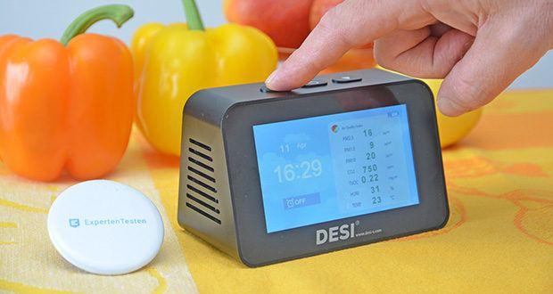 DESI-System DESI Monitor Luftquailitätsmonitor im Test - 3 Darstellungsarten und grafische 8-Stunden-Übersicht