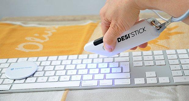 DESI-System DESI UV-Stick für Desinfektion im Test - Desinfektion in ca. 33 Sekunden; Anwendungsdistanz: 2-5 cm