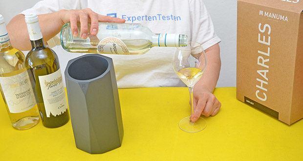 MANUMA Charles Design Weinkühler im Test - sofort bereit für jeden besonderen Anlass!