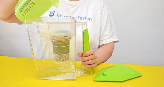 MAUNAWAI NEU Kanne Kini Tischwasserfilter im Test - Kapazität der Behälter: Einfüllbehälter: 0,8 Liter, Entnahmebehälter: 2 Liter