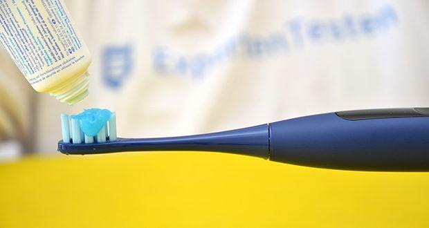 Oclean X Pro Sonic Elektrische Zahnbürste im Test - integrierte Sensoren zur Erfassung der wichtigsten Daten zu den Bürstgewohnheiten (Analyse der Bürstenbewegung, des Winkels, des Drucks und der Zeit) und zur Erstellung von Sofortberichten