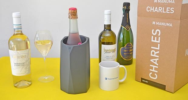 MANUMA Charles Design Weinkühler im Test - in vielen Einzelschritten handgefertigt, ist jeder Weinflaschenkühler ein geschmackvolles Einzelstück und ebenso schönes Geschenk