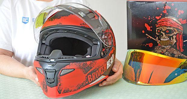 Broken Head Jack S. V2 Pro Motorradhelm im Test - Innenfutter waschbar mit max. 35ºC Wasser