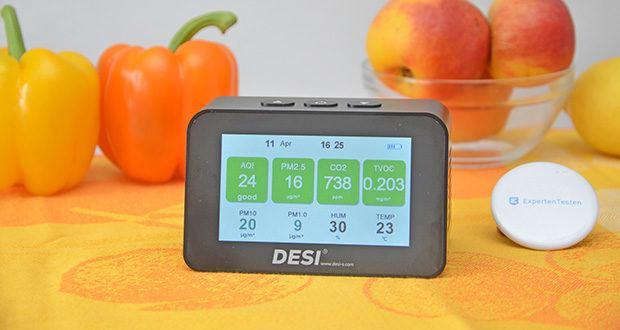 DESI-System DESI Monitor Luftquailitätsmonitor im Test - Monitor zur Auswertung Ihrer Raumluftqualität