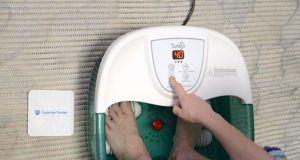 Wie ist die Reinigung und Handhabung eines Fußbads im Test?