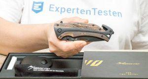 Wie läuft der Test eines Taschenmessers ab?