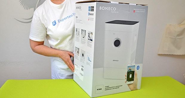 BONECO Hybrid Luftbefeuchter & Luftreiniger H300 im Test - kann je nach Wunsch entweder als Luftbefeuchter, als Luftreiniger oder in Kombination verwendet werden