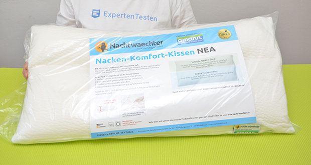 Nachtwaechter Nacken Komfort Kissen NEA im Test - Made in Germany