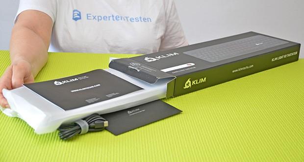 KLIM Light V2 Gaming Tastatur im Test - Produktabmessungen: 44 x 14.4 x 2.9 cm; Gewicht: 480 Gramm