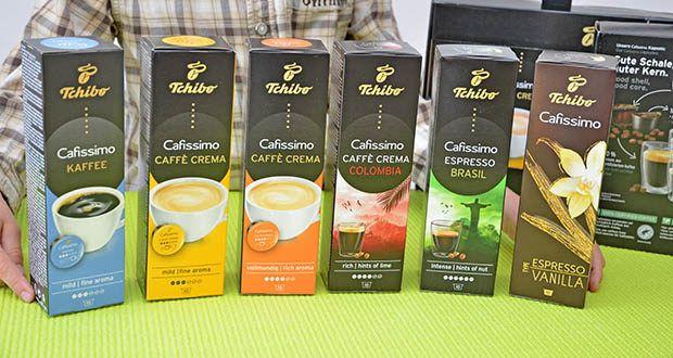 Tchibo Cafissimo Kapselkoffer Spesial Collection im Test - Inhalt: 1x Caffè Crema Colombia, 10 Kapseln (80 g), 1x Caffè Crema Vollmundig, 10 Kapseln (76 g), 1x Caffè Crema Mild, 10 Kapseln (70 g), 1x Kaffee Mild, 10 Kapseln (65 g), 1x Espresso Brasil, 10 Kapseln (80 g), 1x Espresso Flavoured Edition Vanilla, 10 Kapseln (70 g)
