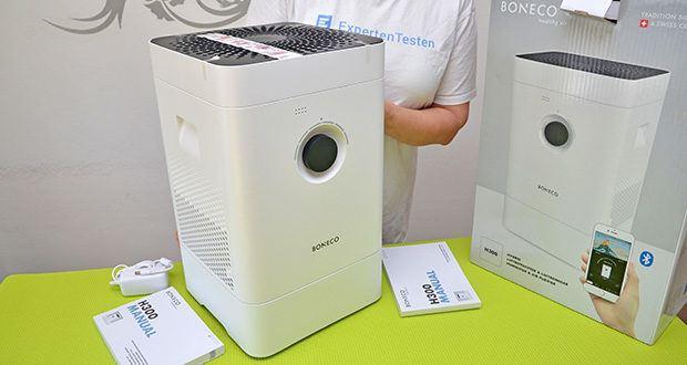 BONECO Hybrid Luftbefeuchter & Luftreiniger H300 im Test - Geeignet für Raumgrössen bis 50m2 / 125 m3