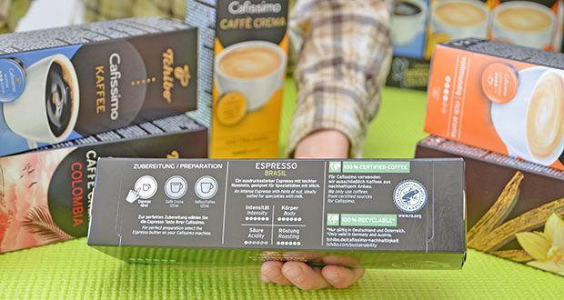 Tchibo Cafissimo Kapselkoffer Spesial Collection im Test - alle Kaffees aus 100% nachhaltigem Anbau