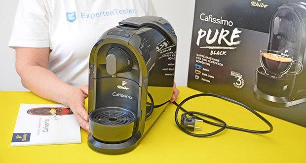 Tchibo Kapselmaschine Cafissimo Pure im Test - integrierte Entkalkungsfunktion
