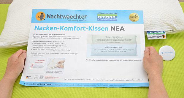 Nachtwaechter Nacken Komfort Kissen NEA im Test - in 3 Härte-Varianten erhältlich: easy, normal und soft für noch mehr Komfort