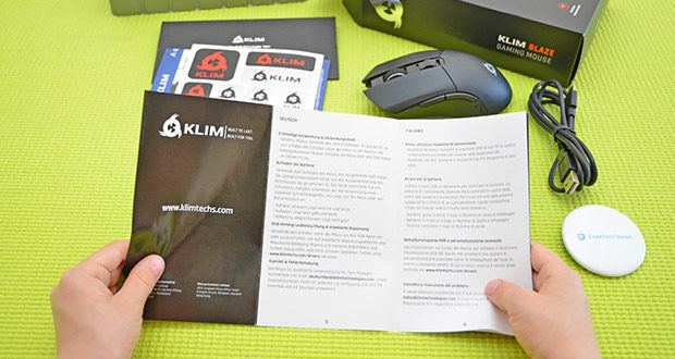 KLIM Blaze kabellose RGB Gaming Maus im Test - mit der DPI-Taste oben auf der Maus kannst du von 600 bis 6000 DPI wählen (und bis zu 10000 DPI mit den entsprechenden Treibern)