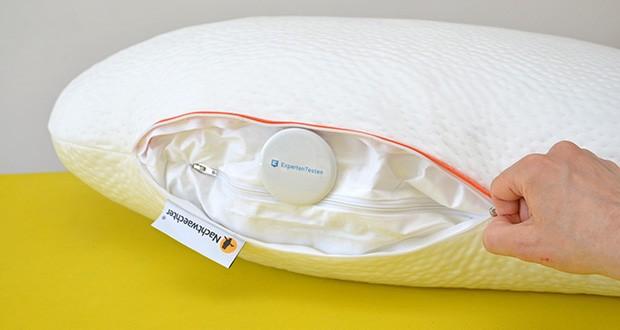 Nachtwaechter Seitenschläfer- und CPAP Kissen LINA im Test - hochwertiger Tencel Bezug