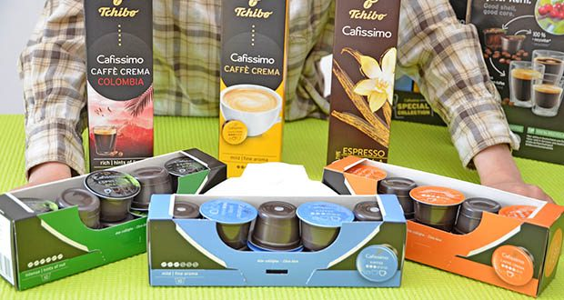 Tchibo Cafissimo Kapselkoffer Spesial Collection im Test - ausschließlich aus recycelbaren Wertstoffen hergestellt