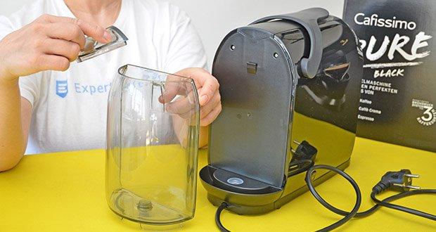 Tchibo Kapselmaschine Cafissimo Pure im Test - abnehmbarer 1 Liter Wassertank