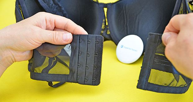 Iris & Lilly Damen Pushup-BH aus Netzstoff im Test - vier Verschlusshaken
