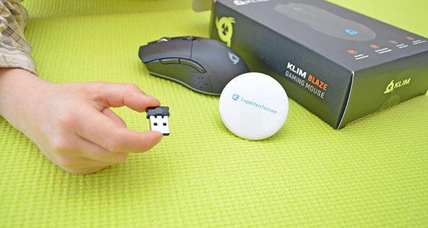KLIM Blaze kabellose RGB Gaming Maus im Test - Kabel- und Funk Maus Modus