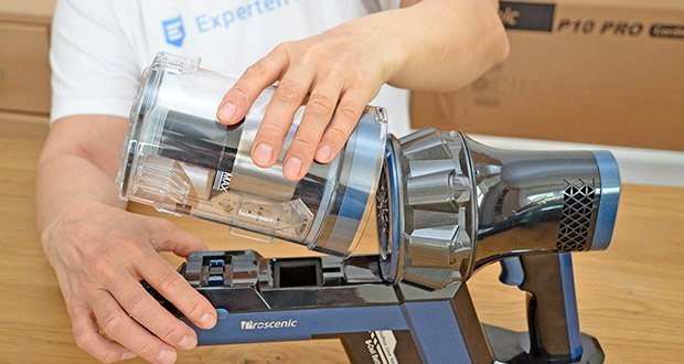 Proscenic Akku Handstaubsauger P10 Pro im Test - mehrstufiges Filtersystem