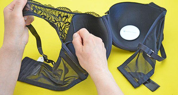 Iris & Lilly Damen Pushup-BH aus Netzstoff im Test - in der Farbe Schwarz