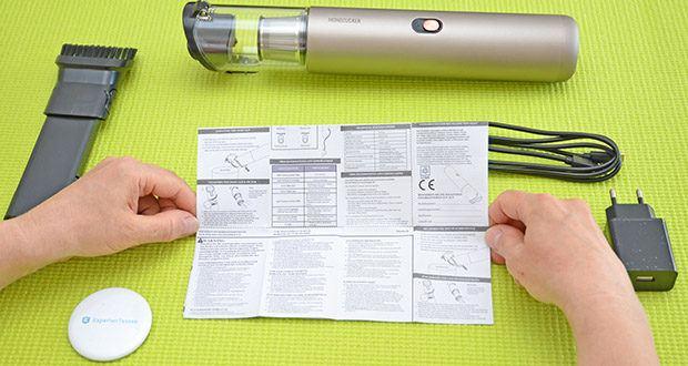 Mondzucker VX Akku Handstaubsauger im Test - Akkukapazität: 2000 mAh (Normal-Modus: 7000 Pa / 20 min; Maximum-Modus: 13000 Pa / 9 min)