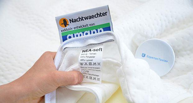 Nachtwaechter Nacken Komfort Kissen NEA im Test - Bezug bei 60 Grad waschbar
