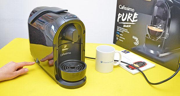 Tchibo Kapselmaschine Cafissimo Pure im Test - energieeffizient durch On-/ Off-Button