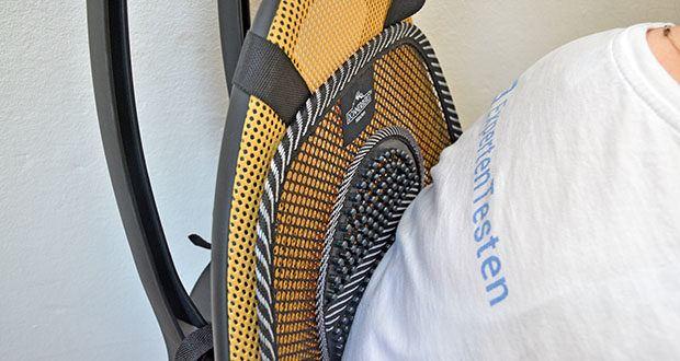 Donnerberg Lordosenstütze im Test - der einzigartige 5 mm starke Stahlrahmen bietet optimale Stabilität für jede Körpergröße