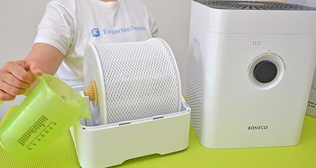 BONECO Hybrid Luftbefeuchter & Luftreiniger H300 im Test - bequeme Handhabung dank direkter Befüllung der Wasserwanne