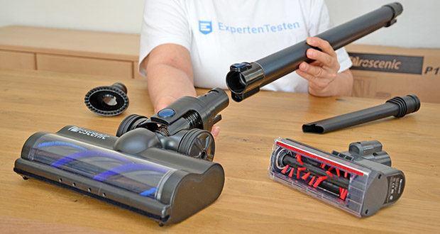 Proscenic Akku Handstaubsauger P10 Pro im Test - mit abnehmbarem Verlängerungsrohr wird der Akku Staubsauger als tragbarer Handstaubsauger benutzt