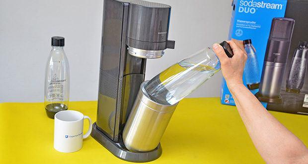 SodaStream Wassersprudler DUO im Test - das Wasser mit dem SodaStream Wassersprudler aufsprudeln