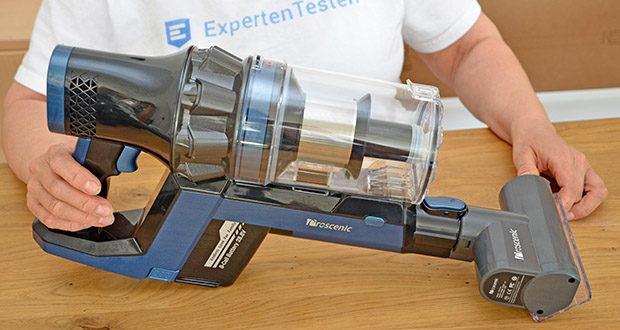 Proscenic Akku Handstaubsauger P10 Pro im Test - der Akku Staubsauger verfügt über 3 Arbeitmodi