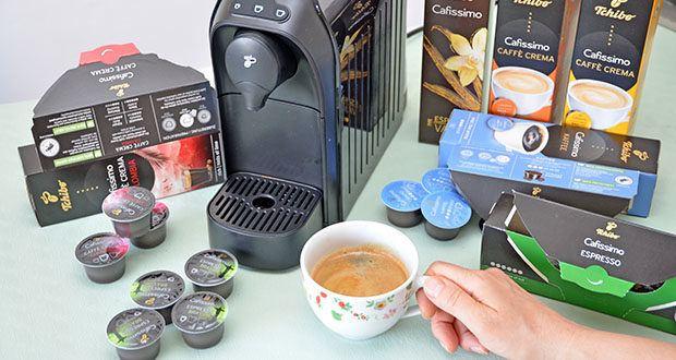 Tchibo Cafissimo Kapselkoffer Spesial Collection im Test - Espresso Brasil: zartbitteres Aroma mit leichter Nussnote; Espresso Flavoured Vanilla: aromatischer Espresso mit einer feinen Vanillenote