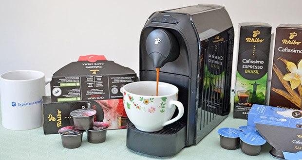 Tchibo Kapselmaschine Cafissimo Easy im Test - dank des patentierten Drei-Druck-Brühsystems wird jeder Kaffee mit dem optimalen Brühdruck zubereitet
