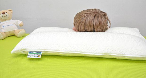 Nachtwaechter Nacken Komfort Kissen NEA im Test - perfekter Komfort und Unterstützung Ihres Nackens durch Visco-Hülle und Spezial-Flocken-Füllung