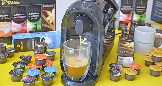 Tchibo Kapselmaschine Cafissimo Pure im Test - dank des patentierten Drei-Druck-Brühsystems wird jeder Kaffee mit dem optimalen Brühdruck zubereitet