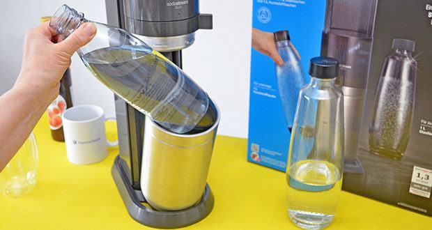 SodaStream Wassersprudler DUO im Test - trink dein Sodawasser zuhause aus der Glasflasche und unterwegs aus der Kunststoffflasche