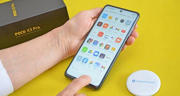Xiaomi Smartphone Poco X3 Pro im Test - die zwei Lautsprecher liefern leistungsstarken Sound in Studioqualität