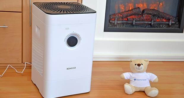 BONECO Hybrid Luftbefeuchter & Luftreiniger H300 im Test - reinigt der innovative, integrierte Filter die Raumluft und lindert die Beschwerden von Allergikern