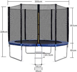 Die Größe des Bodentrampolins im Test und Vergleich